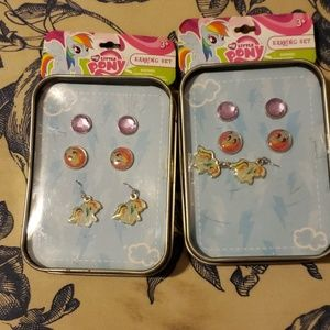 Lot of 2 My Little Pony Earring Set